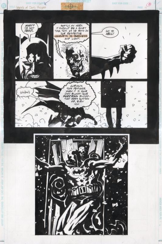Sérieux, c'est Hellboy qui troque son imper pour une cape, là. (C) DC Comics