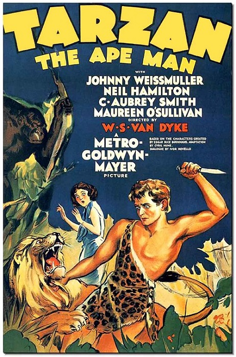 L'affiche par laquelle tout arriva…  © MGM.  Source : Wikipedia https://en.wikipedia.org/wiki/Tarzan_the_Ape_Man_(1932_film)