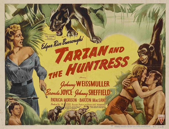 Des Amazones, des Femmes léopards, des Chasseresses… Oui vous ne rêvez pas, les femmes sont à l'honneur chez Tarzan !  © RKO.  Source : Imdb https://www.imdb.com/title/tt0039887/mediaindex?ref_=tt_mv_close