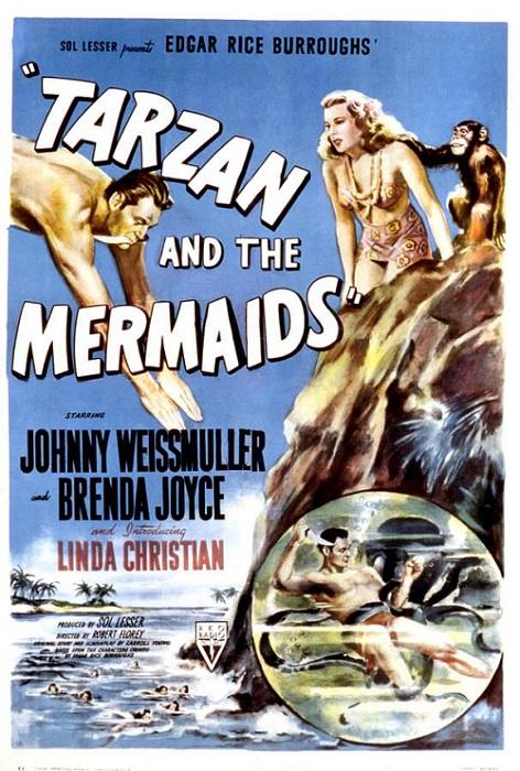 Des sirènes sans queue, une histoire sans tête… © RKO.  Source : Wikipedia https://en.wikipedia.org/wiki/Tarzan_and_the_Mermaids