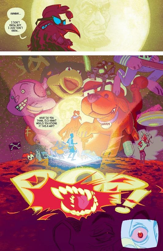 Le brutal effet psychédélique des dessins animés  © Image Comics