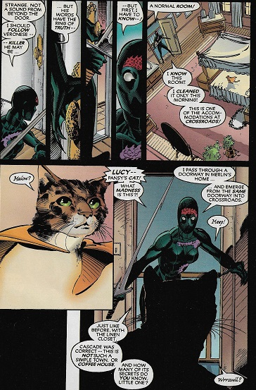 Mais putain il est flippant ce chat! ©Chris Claremont/DC comics