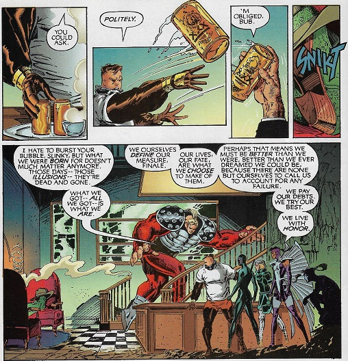 De la part de Chris, avec ses regrets éternels... ©Chris Claremont/DC comics