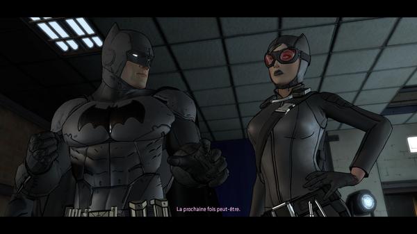 Batman et Catwoman font équipe face à un mystérieux cerveau criminel, même si leur relation reste toujours aussi chaotique  ©Telltale Games Source : jeuxvideo.com http://www.jeuxvideo.com/screenshots/451777-0-0
