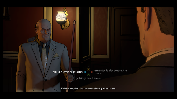 Attention à ce que vous dîtes au caïd de la mafia  ©Telltale Games Source : jeuxvideo.com http://www.jeuxvideo.com/screenshots/451777-0-0