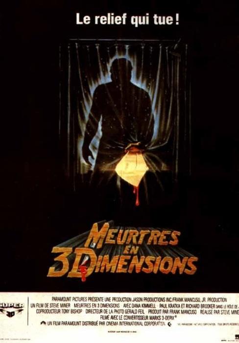 Des meurtres en relief !  © Paramount pictures. Source : Filmshorreur http://www.films-horreur.com/movies/vendredi-13-chapitre-3-meurtres-en-trois-dimensions/