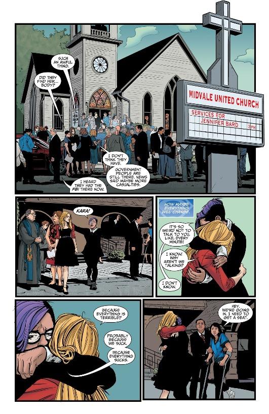 Le traumatisme d'un décès  © DC Comics