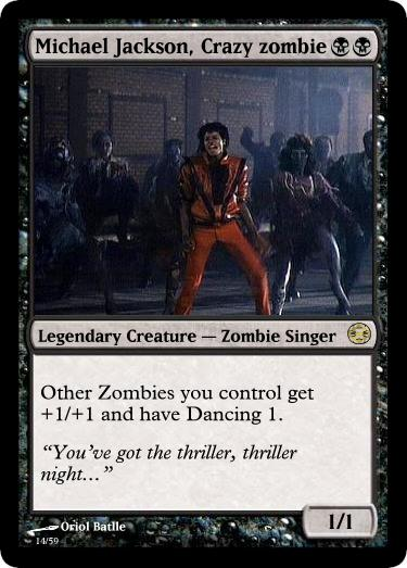 Collectionne toi aussi les trading-cards ! Source : https://www.deviantart.com/asuray93/art/Michael-Jackson-s-MTG-card-117711892
