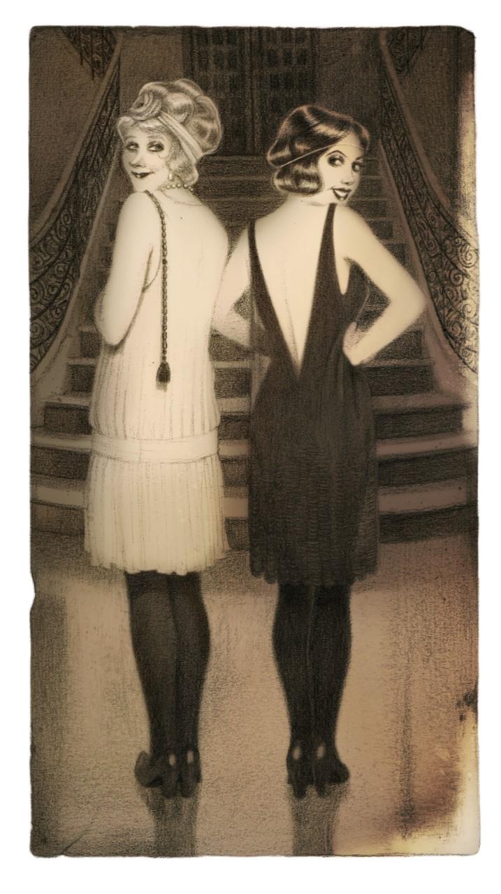 Du glamour même en noir et blanc (C) Camille Benyamina Avec l'aimable autorisation de l'auteur