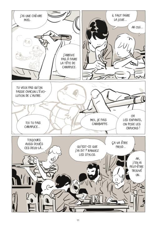 Dans UNE SOEUR, la vie du petit Antoine bascule en une semaine. Il la commence en dessinant des Pokemons, il la finit dans les bras d'une ado (C) Casterman