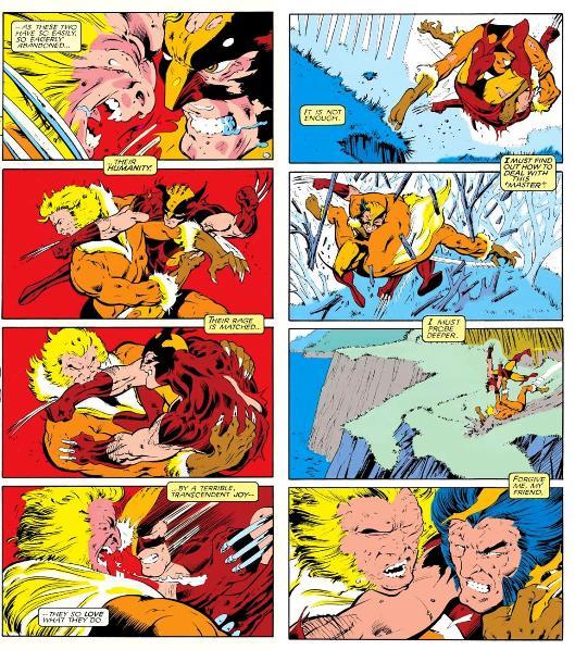 Wolverine versus Sabretooth   Marvel Comics