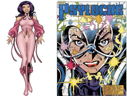 Psylocke en rose bonbon   Marvel Comics