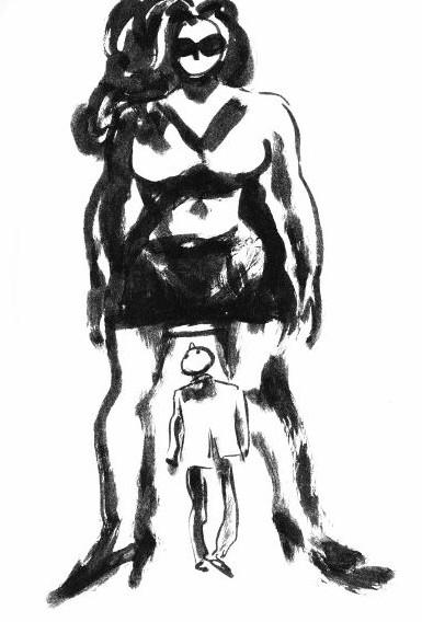 La Femme est grande et moi, je suis tout petit. ©Gregory Mardon. Collection personnelle de lauteur.