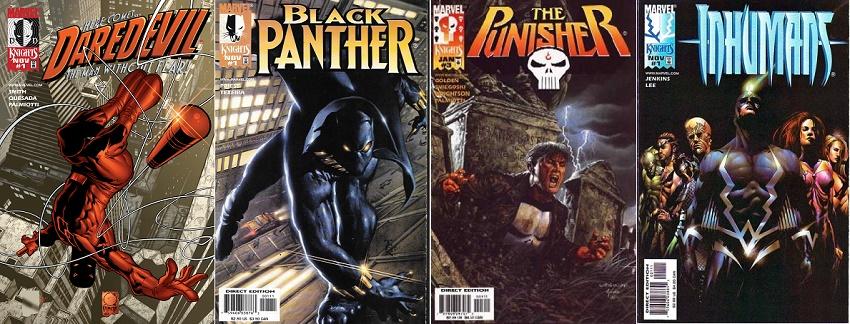 Les quatre premiers. © Marvel Comics.