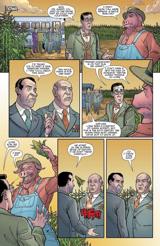 Roswell Garst & Nikita Kroutchev  © DC Comics / Hanna-Barbera