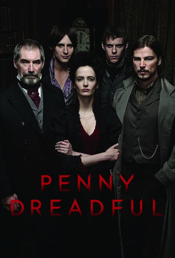 De gauche à droite : Malcom Murray, Dorian Gray, Victor Frankenstein, Ehtan Chandler le loup Garou et bien entendu Vanessa Yves.