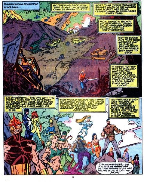 Dans les années 90 Nicolas Hulot dénonçait les méfaits de la déforestation. Si ça se trouve aujourd'hui les Warriors sont devenus ministres. ©Marvel comics