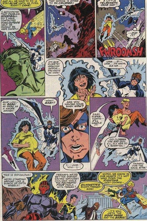 Putain! Des héros qui sauvent des civils...so vintage. Pas de doute on est pas dans les années 2000 ! ©Marvel comics
