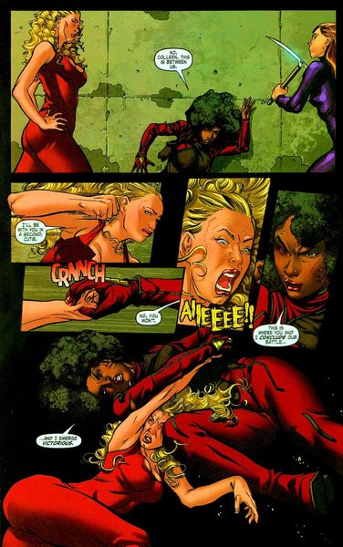 Sexy kung-fu catfight !  ©Marvel comics