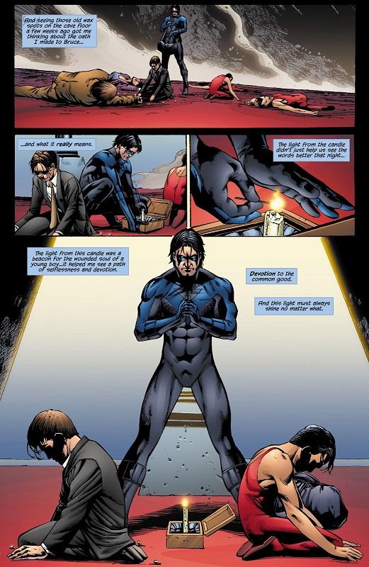 Bruce Wayne/Dick Grayson, miroir l'un de l'autre? ©DC Comics