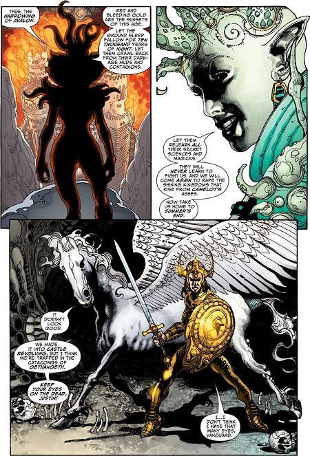 On commence fort avec une plongée dans la mythologie du mythe arthurien ! (par Simone Bianchi) © DC Comics
