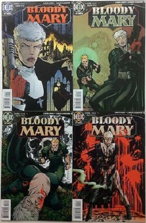 Les quatre couvertures originales, chez Helix. © DC Comics/Helix/Vertigo