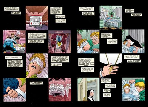 Une autre mise en images du traumatisme du jeune Murdock  (c) Marvel Comics