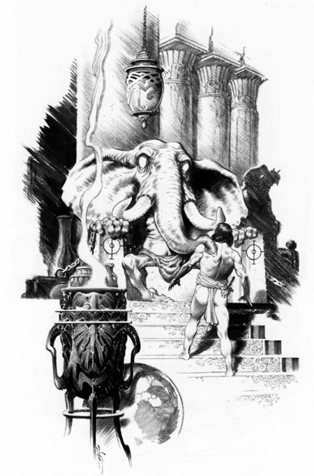 Illustration de Mark Schultz, utilisée dans l'édition Bragelonne des récits d'Howard – (c) Mark Schultz