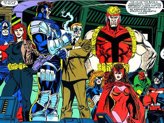 Alors, les gars, la consigne est simple : «Pas d'ingérence!»  © Marvel Comics