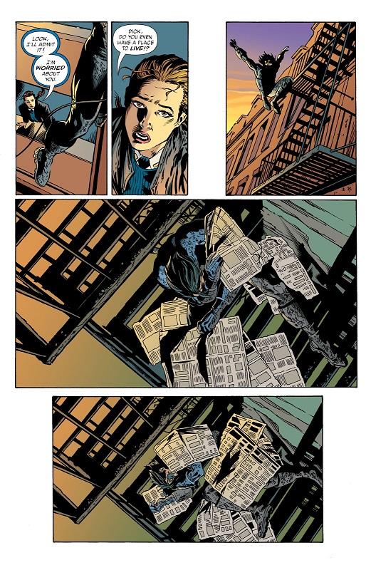 Une descente aux enfers qui n'est pas sans rappeler un autre héros solitaire © DC Comics
