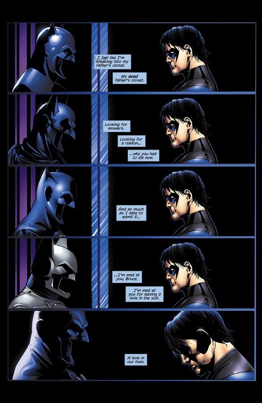 Une belle mise en scène en guise d'hommage au Chevalier Noir © DC Comics
