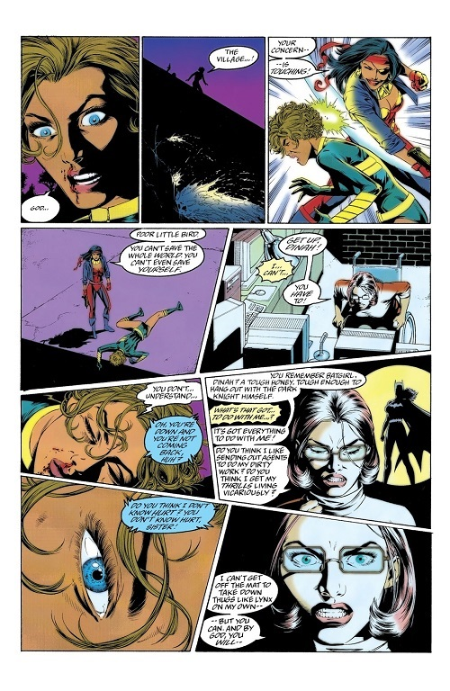 L'alchimie entre les personnages en une seule page. ©Gary Frank-1996-DC COMICS