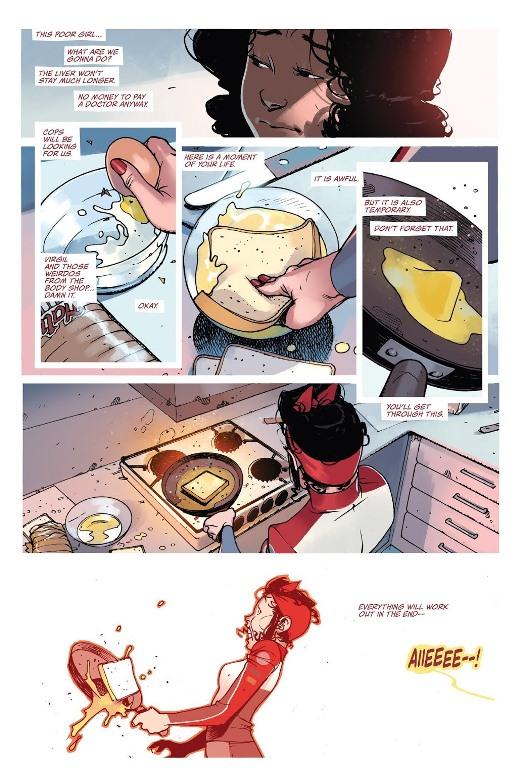 Préparation du petit-déjeuner  © Image Comics
