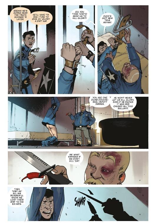En fait, il est consentant, le policier, pas le piment.  © Image Comics