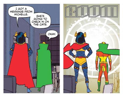 Avant de partir sauver l'univers, penser à faire garder les chats…  (c) DC Comics