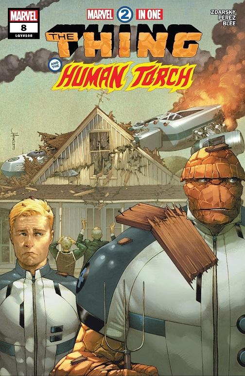 Parodie du célèbre tableau de Grant Wood, résumant assez bien les effets secondaires de l'amitié Benny/Johnny…  © Marvel Comics