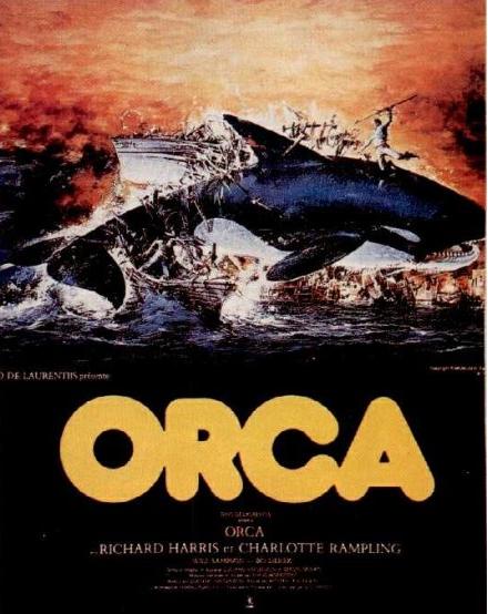 Une belle affiche, specttuclaire et mensongère : ORCA n'est pas un film d'action !  ©Paramount