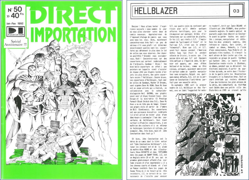 Direct Importation 50 & un article sur Hellblazer  © Franck Léger Direct Importation 50 & un article sur Hellblazer © Franck Léger