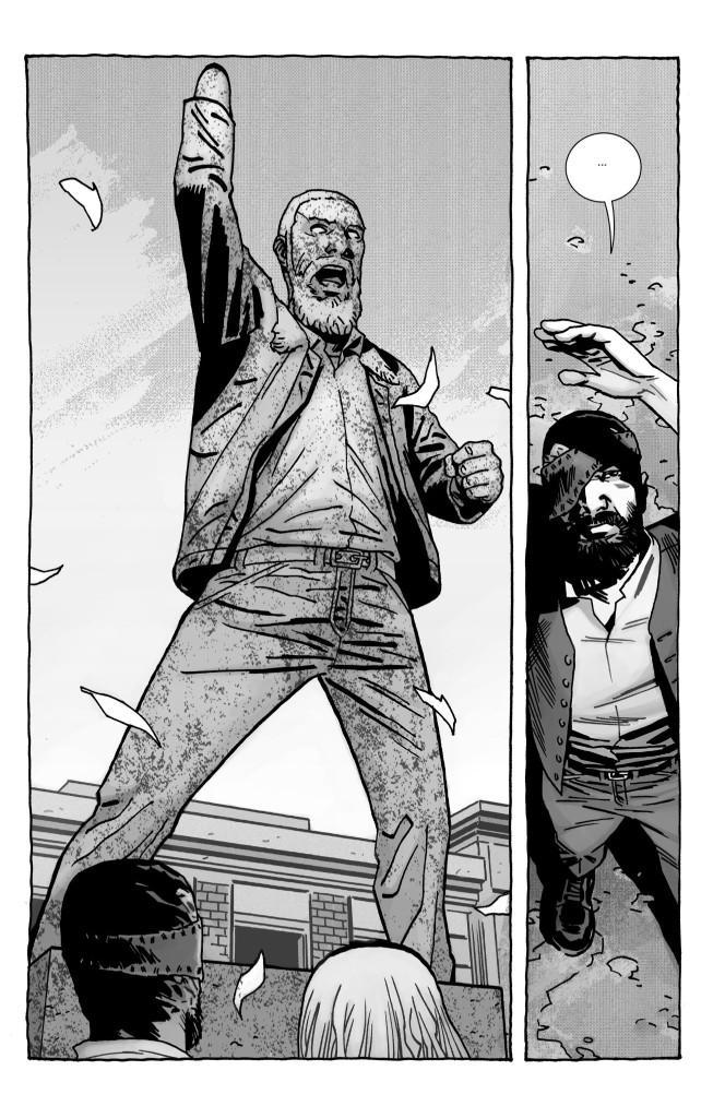 L'ironie de Kirkman : sous forme de statue, Rick Grimes ressemble à un Zombie ! © Image Comics