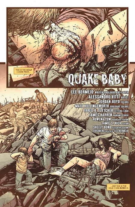 Ça commence fort avec la naissance de Trish, l'héroïne de ce nouveau récit... © Vertigo/ DC Comics