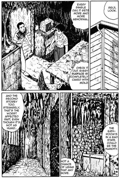 Alors là on va avoir un problème pour l'état des lieux…  Copyright La femme limace : Namekuji no Shōjo © 1991 Junji ITO