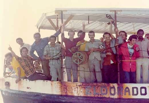 L'exode de Mariel. Première vague d'immigrés cubains dans les années 80 Source: Wikimedia Commons (image libre de droit)