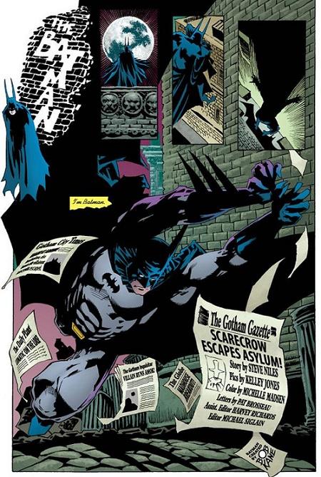 Un épouvantail ça épouvante. Une chauve-souris aussi. © DC Comics