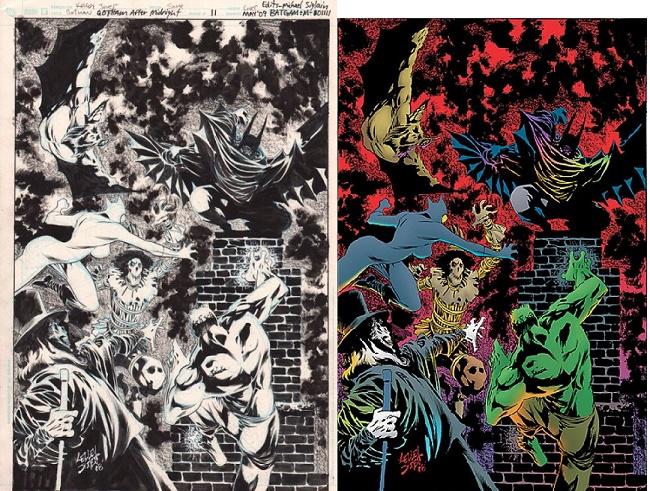 En noir et blanc, c'est pas mal aussi! © DC Comics
