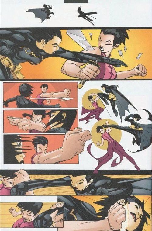 un combat chorégraphié façon cinéma hongkongais. ©2002-Damion Scott-DC COMICS