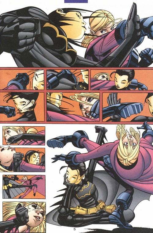 Même l'amitié s'illustre au combat...un vrai Conan cette gamine! ©2003-Damion Scott-DC COMICS
