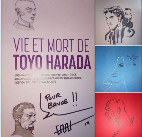 Cafu pour VIE ET MORT DE TOYO HARADA, Pia Guera pour Y THE LAST MAN, Pepe Perez pour FAITH (que j'ai désormais en VF et VO) et Daniel Acuna (les Xmen de Remender).