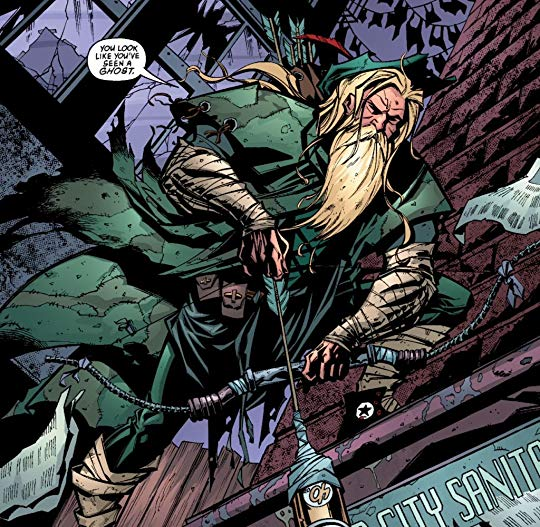 Green Arrow: Born again. ©2001-DC Comics