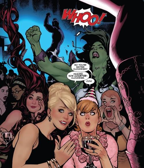 Autre ambiance chez les filles !  ©Marvel Comics