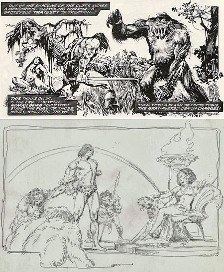 Conan vs Tarzan : Une filiation naturelle (mais on change quand même de slip). © Marvel Comics